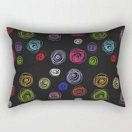 Doodled floral Rectangular Pillow