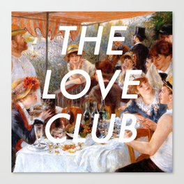 Luncheon with the Love Club Canvas Print