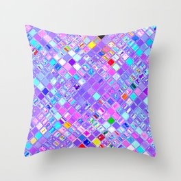 Re-Created  Mosaic No. FIVE by Robert S. Lee Throw Pillow