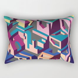 Psychedelic Dissection Rectangular Pillow