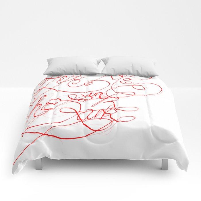 You left me in the dark Comforters