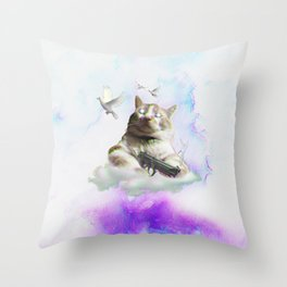 mi$hka the tra$hkat Throw Pillow