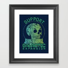 Support Galactic Expansion Framed Art Print
