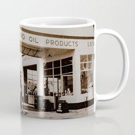 Circa 1945 Standard Station US 395 Minden Nevada Coffee Mug