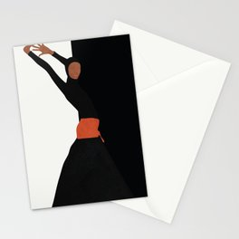 Dancing Model Flow Stationery Cards