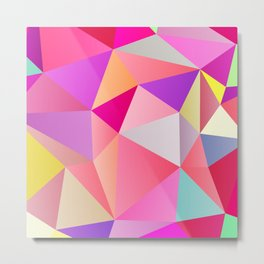 Pink Polygons Metal Print