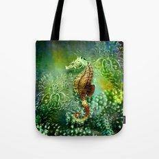 Seahorse Tropical Ocean Life Tote Bag