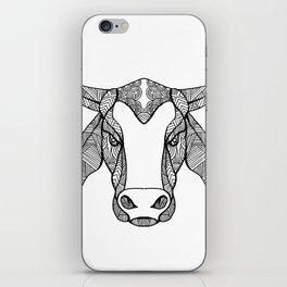 Brahma Bull Head Mandala iPhone Skin