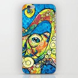 Bright Eyed Octopus iPhone Skin