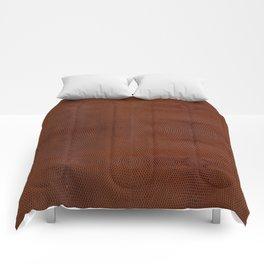 Burnt Orange Leather Comforters
