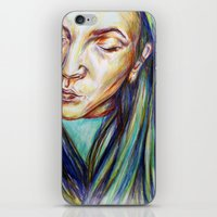 leah flores iPhone & iPod Skins featuring Leah by Chloe Gibb