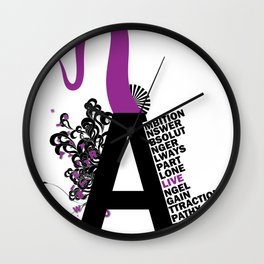 A is the Letter Wall Clock