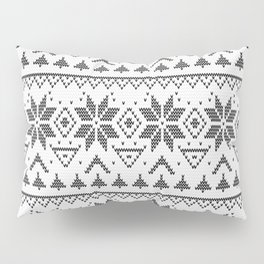 Knitted Scandinavian pattern Pillow Sham
