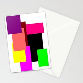 Colour Squares Stationery Cards