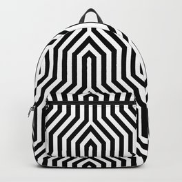 Retro Chevron B&W Backpack