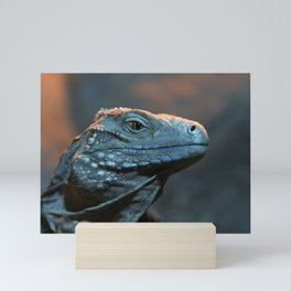 Blue Iguana Mini Art Print