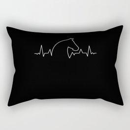 Arabian Horse Heartbeat Thoroughbred Rectangular Pillow
