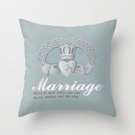 April Marriage Throw Pillow