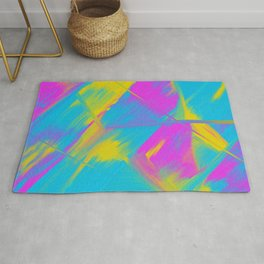 Bright Color Play Digital Oil Painting Rug
