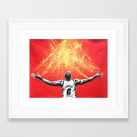 lebron Framed Art Prints featuring LeBron Gold by M.J.P. STENCILS