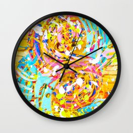 Sea Of Colors Wall Clock