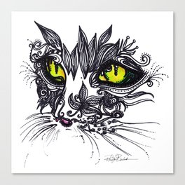 Intense Cat Canvas Print