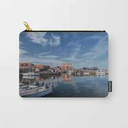 Nordish harbour - Marina at the Sea Bornholm Island Sky Clouds Carry-All Pouch