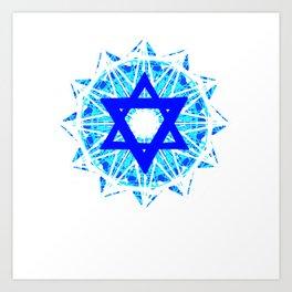 Jewish Star Art Print