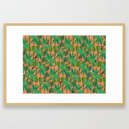 Jungle Jive pattern Framed Art Print