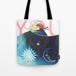 The Sun, the Moon and the Sky Tote Bag