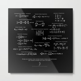 High-Math Inspiration 01 - inverted color Metal Print