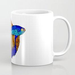 Betta Fighting Fish _ Orange Coffee Mug