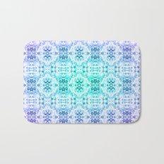 Floral Print - Teal & Purple Bath Mat