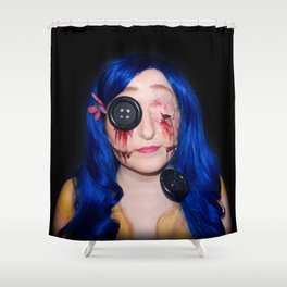 Gory Coraline Shower Curtain