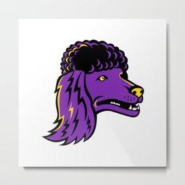 Poodle Head Mascot Metal Print