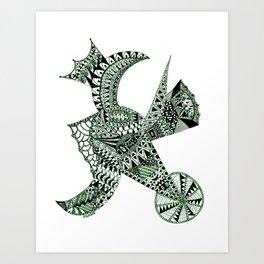 Lizard Prince Art Print