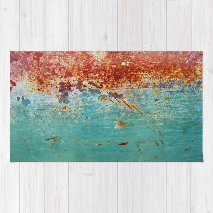 Teal Rust Rug By Richcaspianphotography