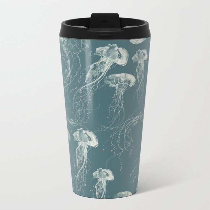 Deep Blue Metal Travel Mug