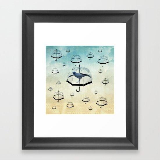raven rain Framed Art Print