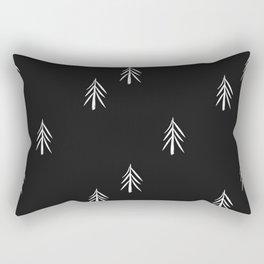 nordic fir trees Rectangular Pillow