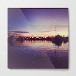 santa barbara harbor sunset  Metal Print