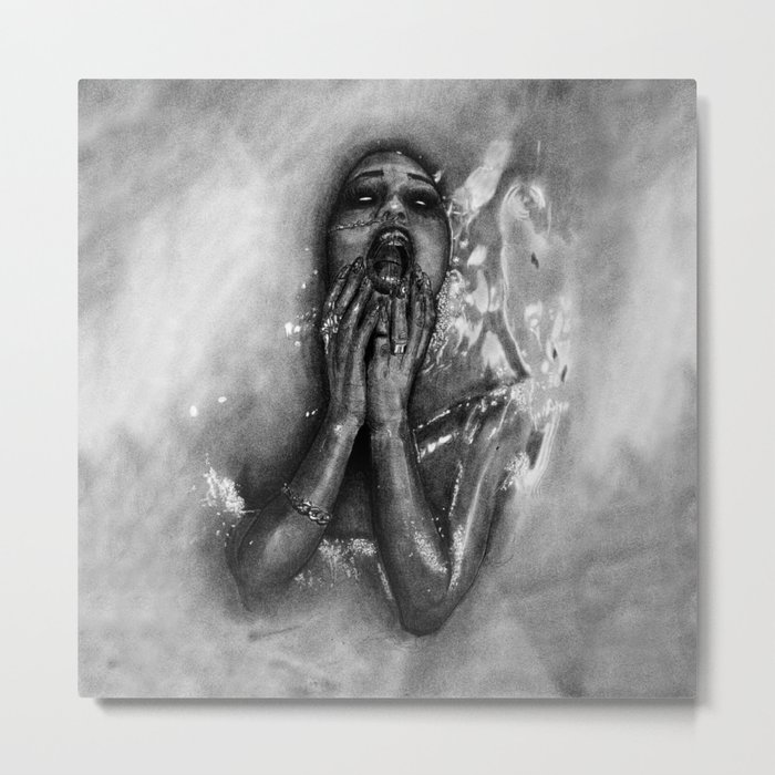 Gina Harisson - The Drowning Woman With Background Metal Print