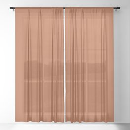 Copper #B2592D Sheer Curtain