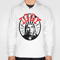 iggy Hoodies featuring There is Only ONE Iggy  |  Iggy Pop by Silvio Ledbetter