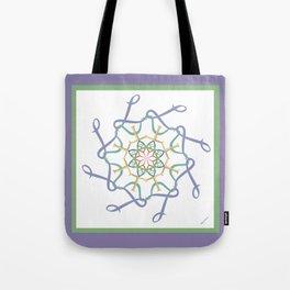 Lullaby Mandala - Lavender Green Tote Bag