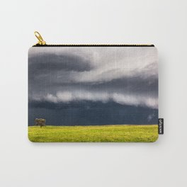 Passing By - Storm and Lone Tree in Nebraska Carry-All Pouch