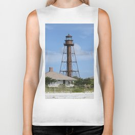 Sanibel Island Light Biker Tank