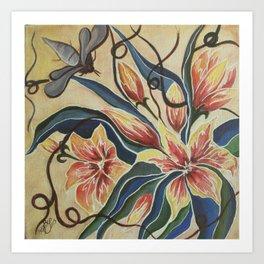 Floral-Musings-4 Art Print