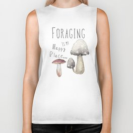 Foraging for mushrooms Biker Tank