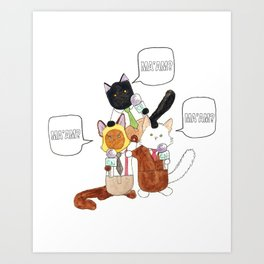 The Boys of Breaking Cat News  Art Print